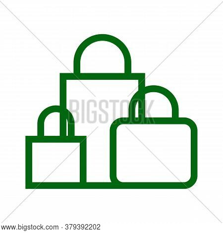 Shopping Bags Icon Isolated On White Background From Ecommerce Collection. Shopping Bags Icon Trendy