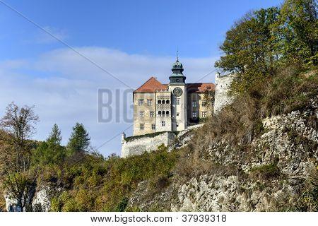 Old Castle Called Pieskowa Skala In Ojcow, Poland
