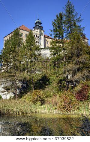 Castle Called Pieskowa Skala In Poland
