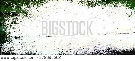Green Gradient Background With Soft Blurry Texture And White Center And Dark Border Grunge