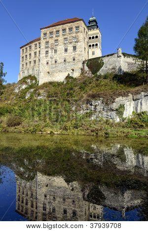 The Pieskowa Skala Castle In The Ojcow National Park, Poland.