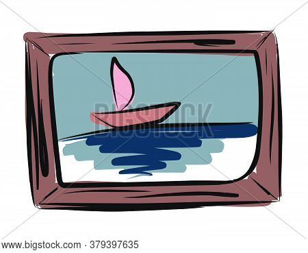 Picture. Interior Painting. Vector Picture Drawn By Hand From A Set About Home Life And Comfort. The