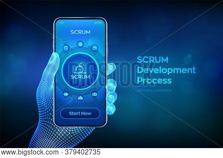 Scrum. Agile Development Methodology Process. Iterative Sprint Methodology. Programming And Applicat