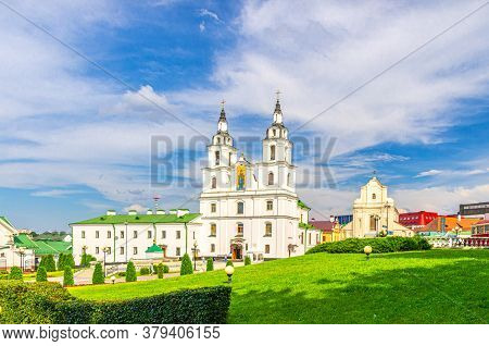 Holy Spirit Cathedral Orthodox Church Baroque Style Building And Church Of St. Joseph In Upper Town