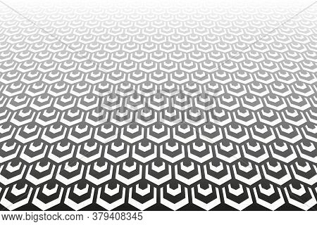 Abstract Geometric Diamonds Pattern. Diminishing Perspective. Textured Background. Vector Art.