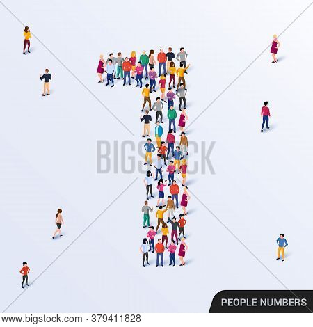 Large Group Of People In Number 1 One Form