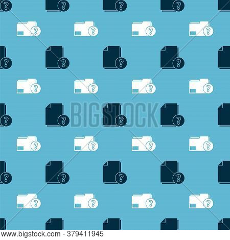 Set Unknown Document And Unknown Document Folder On Seamless Pattern. Vector