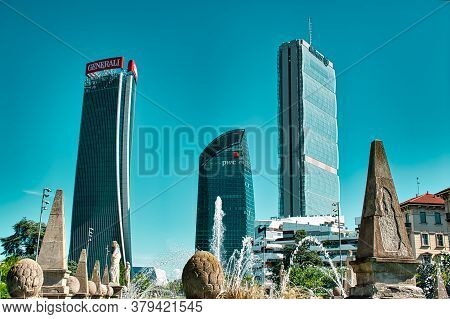 Three Towers (tre Torri) Allianz (il Dritto/the Straight One), Generali (lo Storto/the Twisted One),