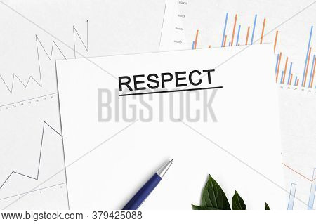 Respect Document With Graphs, Diagrams And Blue Pen
