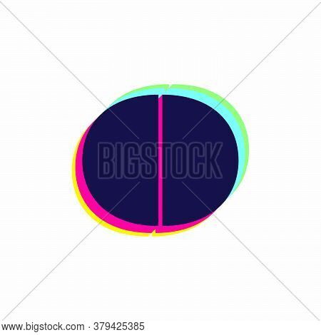 Letter O Logo With Stereo Effect. Vibrant Glossy Colors Font Perfect To Use In Any Disco Labels, Dj