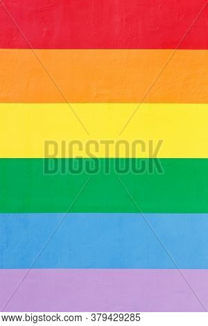 Painted Wall Texture Background With Lgbt Colors