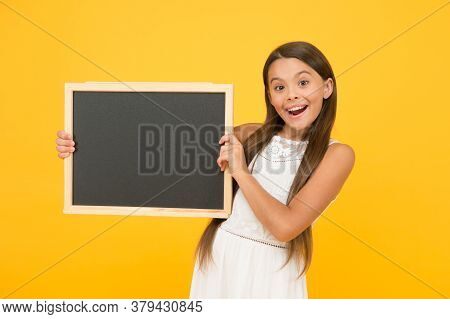 Good News For You. Chalkboard For Information. Blank Blackboard. Something You Need To Know. Happy S