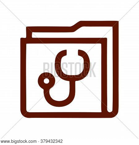 Medical Folder Icon Isolated On White Background From Pharmacy Collection. Medical Folder Icon Trend