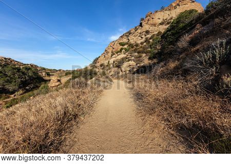 Dirt road nature path at Rocky Peak Park near Los Angeles and Simi Valley in Ventura County California.