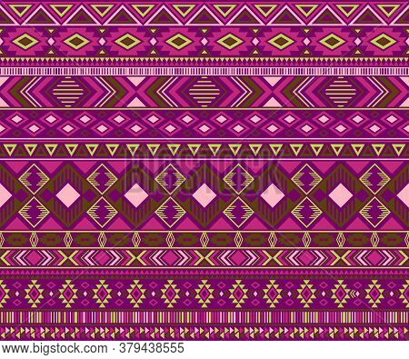 Navajo American Indian Pattern Tribal Ethnic Motifs Geometric Vector Background. Doodle Native Ameri