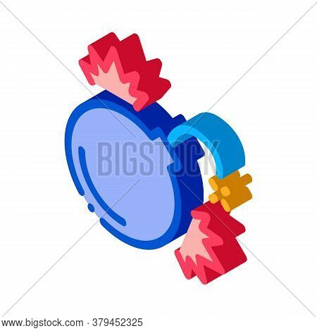 Firework Bomb Icon Vector. Isometric Firework Bomb Sign. Color Isolated Symbol Illustration