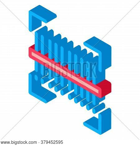 Webshop Scanning Barcode Icon Vector. Isometric Webshop Scanning Barcode Sign. Color Isolated Symbol