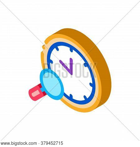 Watch Research Icon Vector. Isometric Watch Research Sign. Color Isolated Symbol Illustration