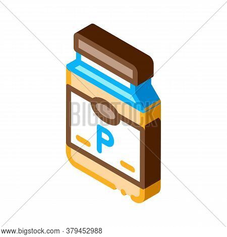 Soy Protein Bottle Icon Vector. Isometric Soy Protein Bottle Sign. Color Isolated Symbol Illustratio