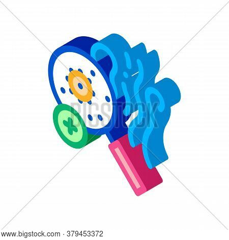 Odor Smell Microbe Research Icon Vector. Isometric Odor Smell Microbe Research Sign. Color Isolated