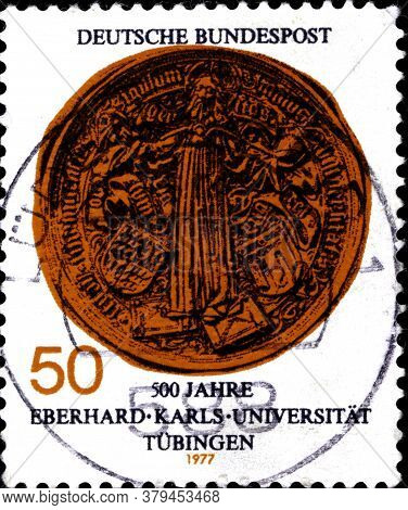02 09 2020 Divnoe Stavropol Territory Russia The Germany Postage Stamp 1977 The 500th Anniversary Of