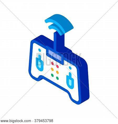 Drone Remote Control Icon Vector. Isometric Drone Remote Control Sign. Color Isolated Symbol Illustr