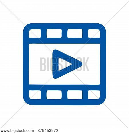 Film Icon Isolated On White Background From User Interface Collection. Film Icon Trendy And Modern F