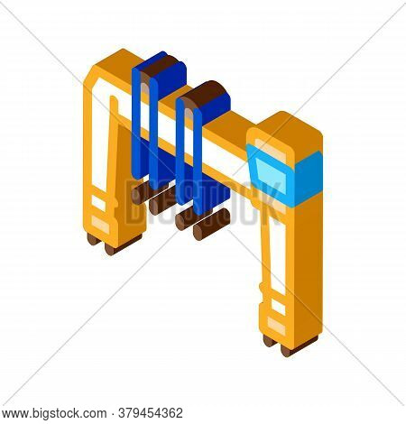 Industry Crane Icon Vector. Isometric Industry Crane Sign. Color Isolated Symbol Illustration