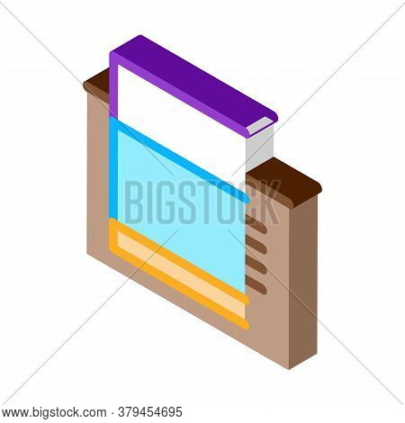 Tiled Foundation Icon Vector. Isometric Tiled Foundation Sign. Color Isolated Symbol Illustration