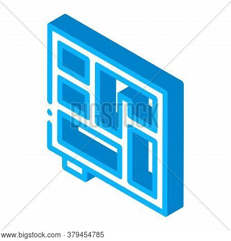 Foundation Plan Icon Vector. Isometric Foundation Plan Sign. Color Isolated Symbol Illustration