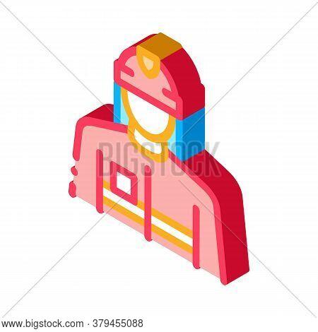 Fireman Profession Icon Vector. Isometric Fireman Profession Sign. Color Isolated Symbol Illustratio