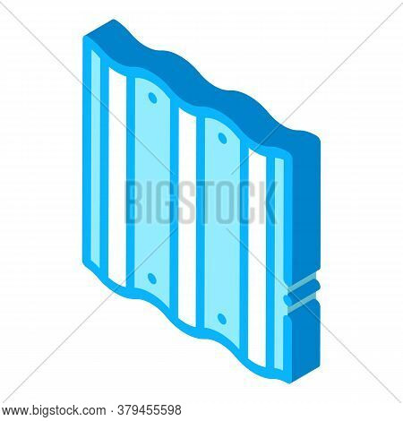Roof Metal Tile Icon Vector. Isometric Roof Metal Tile Sign. Color Isolated Symbol Illustration