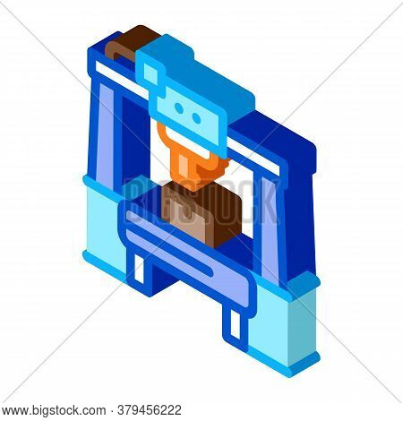 Manufacturing Machine Icon Vector. Isometric Manufacturing Machine Sign. Color Isolated Symbol Illus
