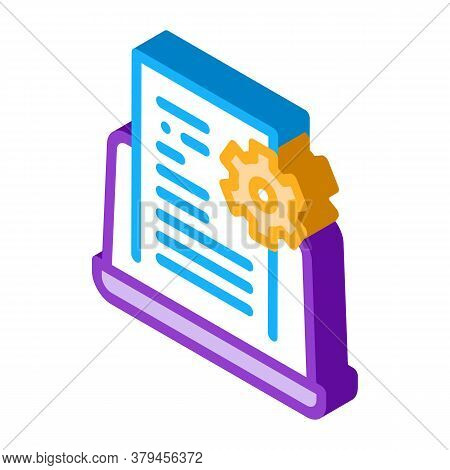Front End Technical Tasks Icon Vector. Isometric Front End Technical Tasks Sign. Color Isolated Symb