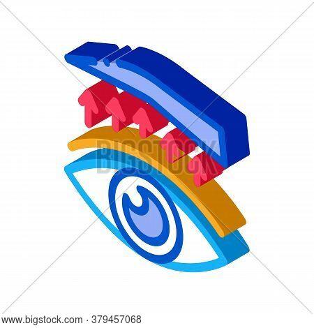 Eyelid Surgery Treatment Icon Vector. Isometric Eyelid Surgery Treatment Sign. Color Isolated Symbol
