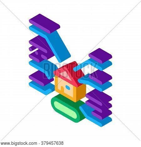 House Characteristics Icon Vector. Isometric House Characteristics Sign. Color Isolated Symbol Illus