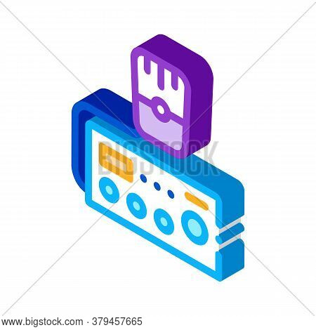 Police Radio Icon Vector. Isometric Police Radio Sign. Color Isolated Symbol Illustration