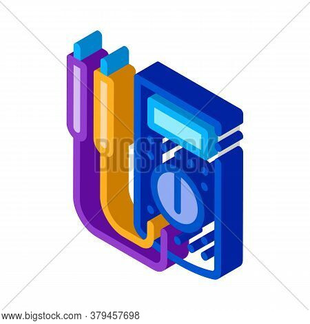 Ammeter Tool Icon Vector. Isometric Ammeter Tool Sign. Color Isolated Symbol Illustration