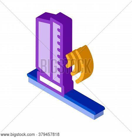 Radio Sound Icon Vector. Isometric Radio Sound Sign. Color Isolated Symbol Illustration