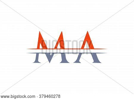 Minimal Ma Letter Linked Logo For Business And Company Identity. Creative Letter Ma Logo Vector Temp