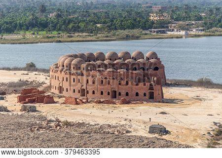 Serapeum, Egypt - November 14, 2019: Unfinished Hotel On The Suez Canal Near Serapeum, Al Qantarah S