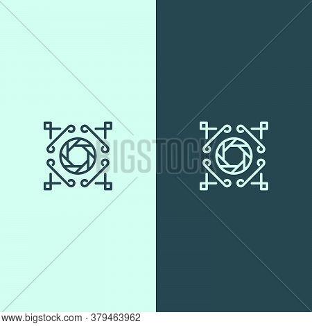 Luxury Lens Photography Logo. Logo With Style Line Art. Suitable For Photographer Logos, Photo Studi