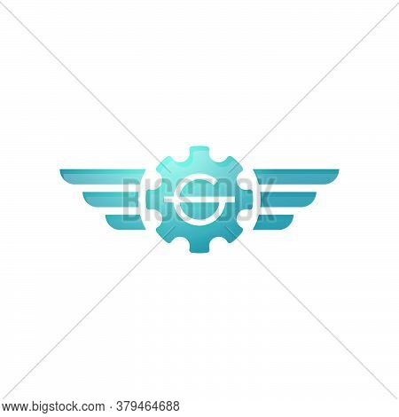 The Logo Of A Gear And A Pair Of Wings, With The Letter G In It. Suitable For Automotive Companies,