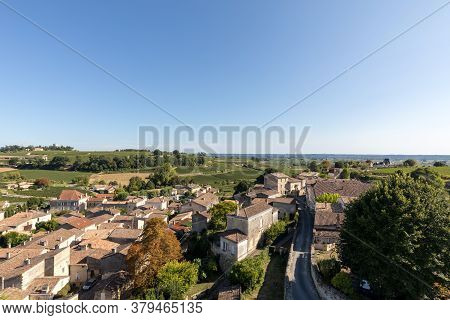 St Emilion, France - September 8, 2018: Panoramic View Of St Emilion, France. St Emilion Is One Of T