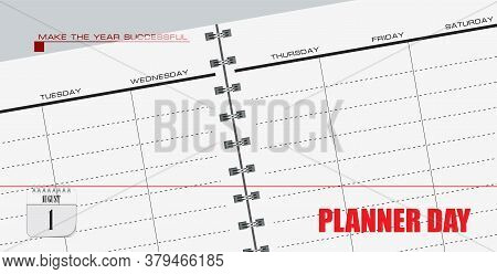 Post Card For Event August Day Planner Day