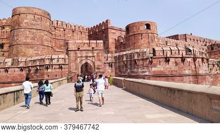 Orchha Fort Agra Fort Jahangir Mahal A Pink Sandstone Fortification Palace Of Moghuls Emperor Mahal-