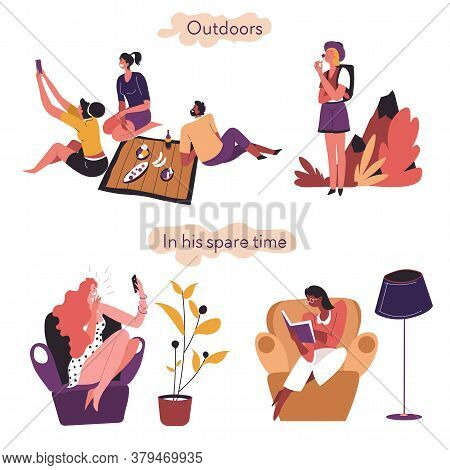 Extrovert And Introvert Comparison Outdoors And In Spare Time
