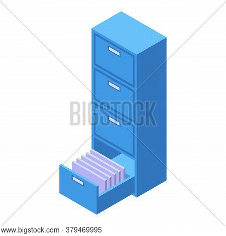 Archive Storage Document Icon. Isometric Of Archive Storage Document Vector Icon For Web Design Isol