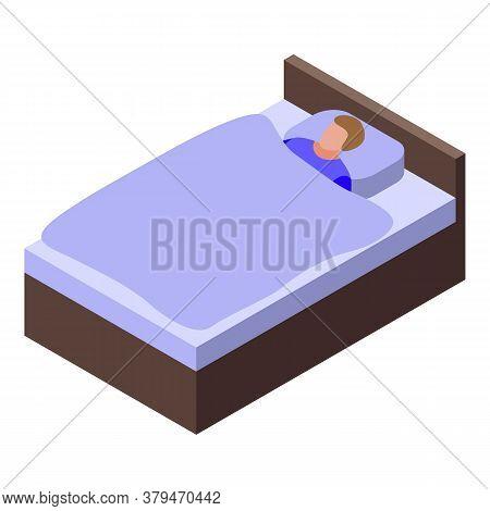 Sleeping Habit Icon. Isometric Of Sleeping Habit Vector Icon For Web Design Isolated On White Backgr
