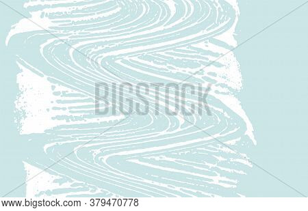 Grunge Texture. Distress Blue Rough Trace. Cool Background. Noise Dirty Grunge Texture. Interesting
